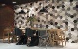 Hexagon wandtegel Vodevil White 17,5x17,5 cm - sfeerfoto