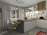 Hexagon decor wandtegel Vodevil Decor Ivory 17,5x17,5 cm - sfeerfoto keuken