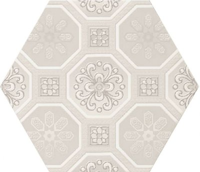 Hexagon decor wandtegel Vodevil Decor Ivory 17,5x17,5