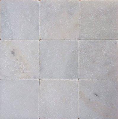 Vloertegel Wit marmer anticato 10x10x1