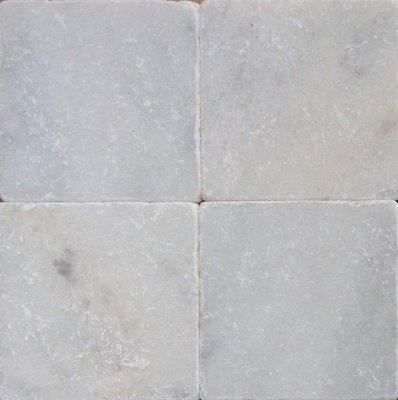 Vloertegel Wit marmer anticato 20x20x1