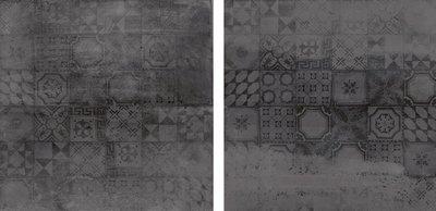 Vloertegel Concrete Antraciet Decor 60x60