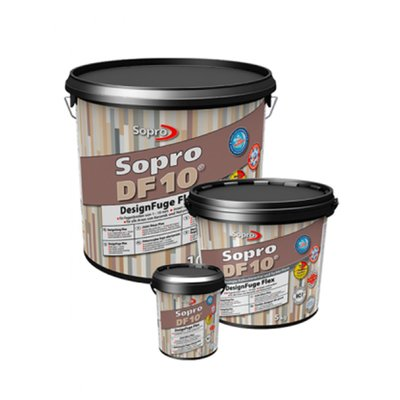 Voegmortel Sopro DF 10 Flexibel zandgrijs 5kg