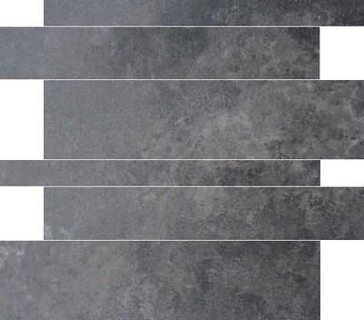 vloertegel Gravel stroken Antraciet 5-10-15x60 rett