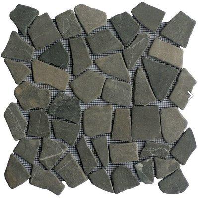 Vloertegel Grey marmer scherven getrommeld mixed maten