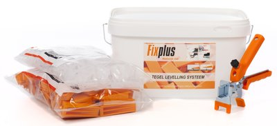 Fix Plus Tegel Levelling Starters Kit 250 PRO 1,5mm
