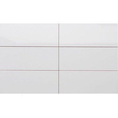 Wandtegel Wandtegels wit glans 20x50