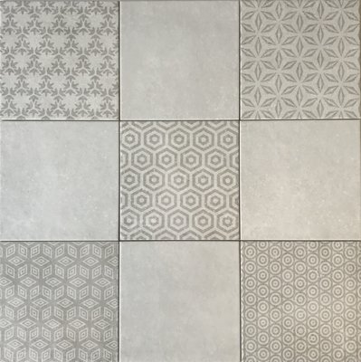 Wandtegel Kaza Decor Gris 20x20