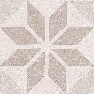 decortegel Materia Decor Star Ivory 20x20