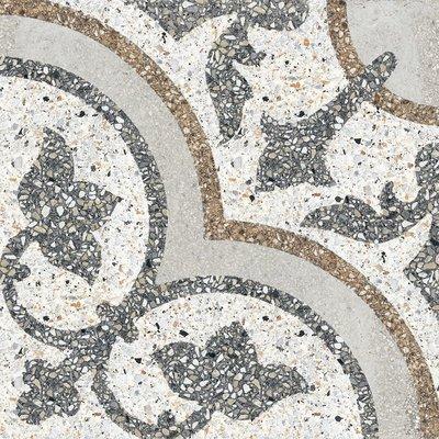 Vloertegel Terrazzo tegels Casale Siena grigio 25x25