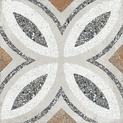 Vloertegel Terrazzo tegels Casale Firenze grigio 25x25
