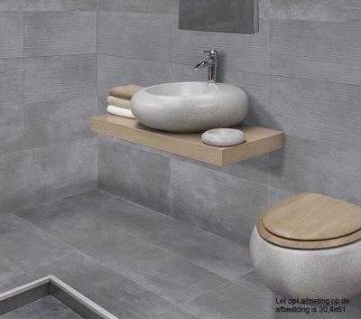 Vloertegel Loft Grey 61x61 rett