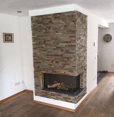 Tegelstroken Schiste flatface stonepanel rusty slate 15x60x1/2