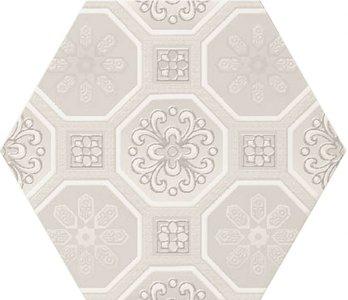 Hexagon decor wandtegel Vodevil Decor Ivory 17,5x17,5 cm