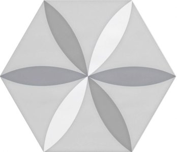 Hexagon wandtegel Vodevil Decor White 17,5x17,5 cm