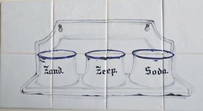 Tegeltableau Zand Zeep Soda