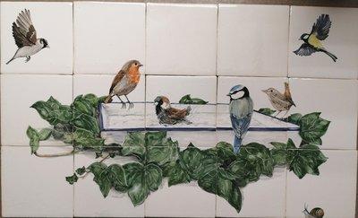 Tegeltableau Vogeltjes