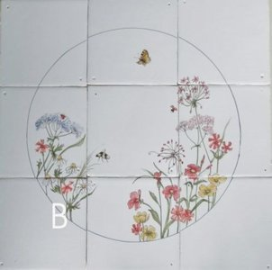 Tegeltableau bloemen B