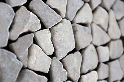 Vloertegel Light grey marmer scherven getrommeld