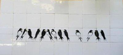 Zwaluwen zwart wit